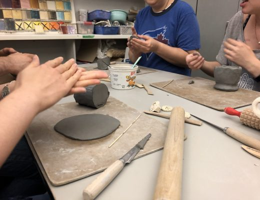 Localife Toronto plays with clay